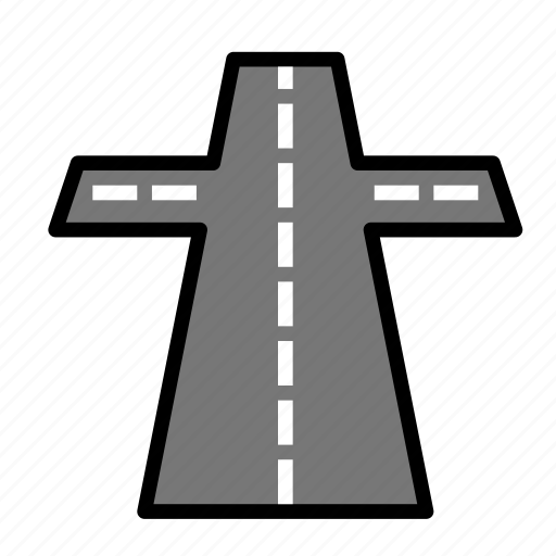 intersection, nature icon