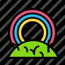 nature, rainbow icon