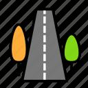arbor, nature, road, s icon