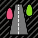 nature, road icon