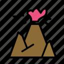 nature, volcano icon