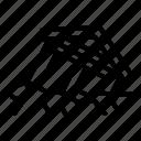 car, house, landslide, logo, nature, silhouette, warning icon