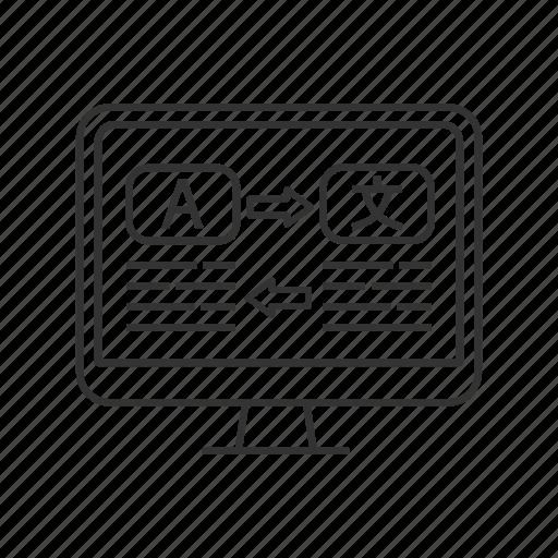 computer, foreign, language, online, translate, translation, translator icon