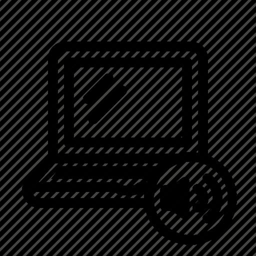 bo, device, laptop, loud, sound, volume icon