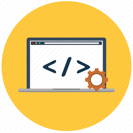 code, coding, design, html, laptop, programming, web icon
