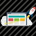 business, launch, marketing, rocket, seo, startup, web