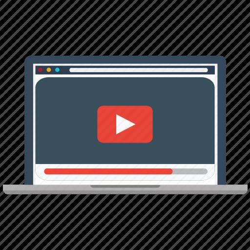 marketing, media, play, screen, social, video, youtube icon