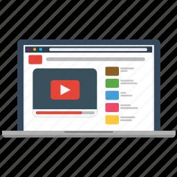 marketing, media, play, social, video, web, youtube icon