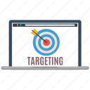 business, launch, market research, marketing, seo, targeting, web icon