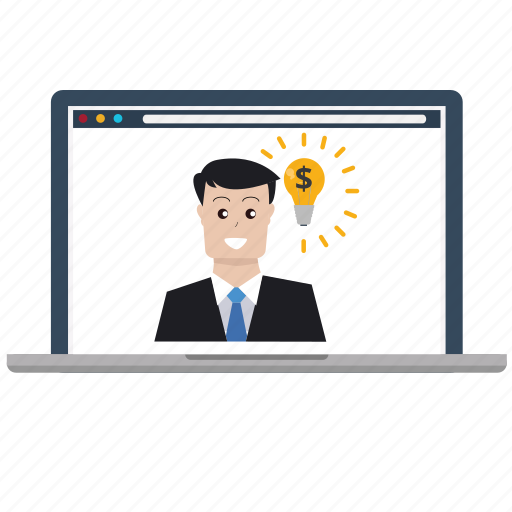 business, creative, customer, idea, laptop, marketing, seo icon