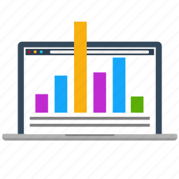 business, chart, diagram, growth, laptop, marketing, seo icon
