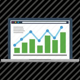 analytics, business, chart, diagram, marketing, seo, success icon