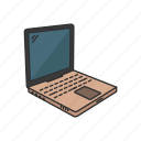 apple computer, clamshell, ibook, laptop, netbook, computer, technology icon