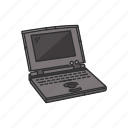 clamshell, ibook, imac, laptop, netbook, computer, technology icon