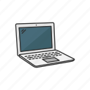 computer, ibook, laptop, netbook, gadget, technology icon