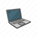 ibook, netbook, computer, gadget, internet, laptop, technology icon