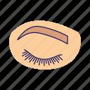 after procedure, extension, eye, eyelash, permanent, temporary, woman