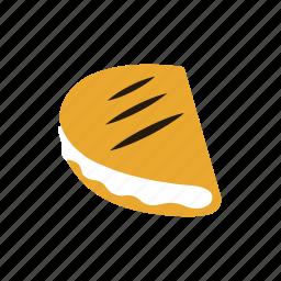 cachapa, cheese, color, latin, venezuela icon