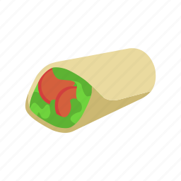 color, fajita, latin, mexican, vegetables, veggies icon