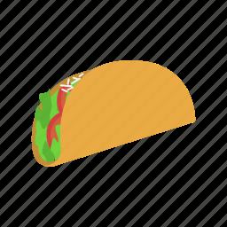 color, latin, mexican, taco, vegetables, veggies icon
