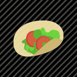 color, latin, mexican, tortilla, vegetables, veggies icon