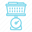 laundry, laundry scale, scale, weigh icon