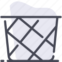 basket, clean, clothes, laundry, wash icon