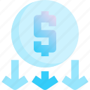 coin, drop, insert, laundry, money, payment icon