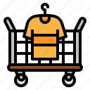 cart, clean, cloth, hotel, laundry