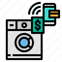 creditcard, laundry, mobile, payment, touch icon