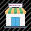laundry, shop, store, building, clean
