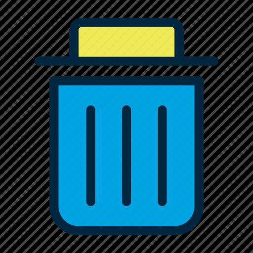 clothing, dress, laundry, trash can, wash, washing icon