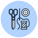 c, clothing, drycleaning, repair, sewing, tailor icon