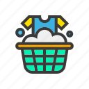 clean, laundry, soap, wash, washing, washing clothes icon