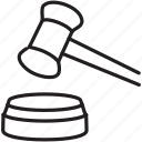 courthouse, courtroom, decision, dongle, judge, law, ruling icon