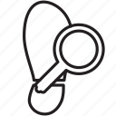 detect, glass, investigation, law, magnifying, shoe icon