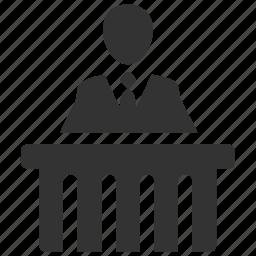 attorney, court, inquest, judge, judiciary, justice, tribunal icon