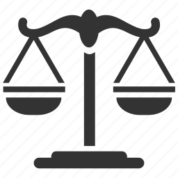 court, judge, judiciary, justice, law, scales, tribunal icon