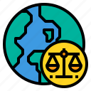 global, judge, justice, law, lawyer icon