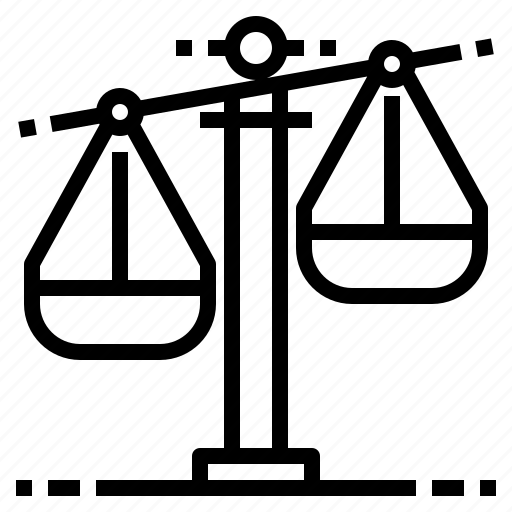 judge, justice, law, lawyer, scale icon