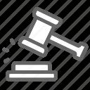 auction, court, judge, justice, law, legal icon