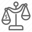 balance, biased, judge, justice, law, money