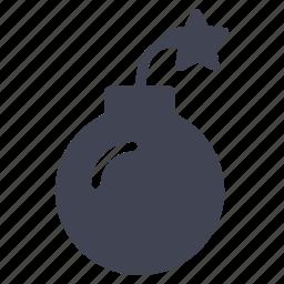 bomb, crime, explosive, law, weapon icon