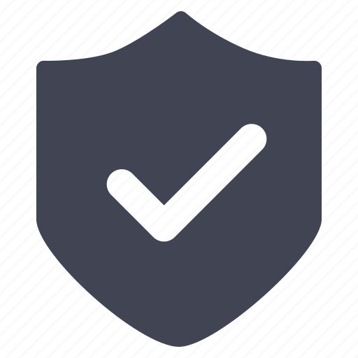 confirm, crime, law, safety, security, shield icon