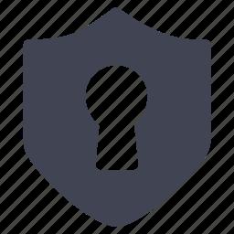 crime, hole, key, law, security icon