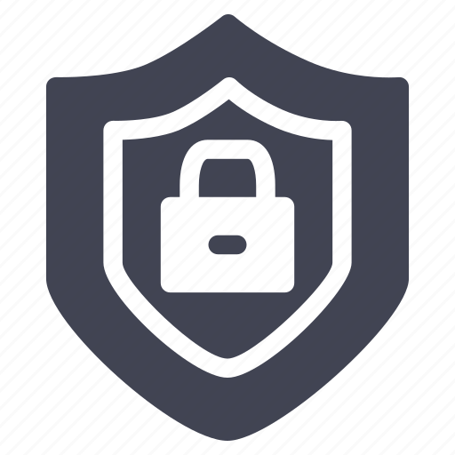 crime, law, lock, locked, safety, security, shield icon