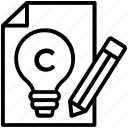 all right reserved, copyright act, copyright ordinance, intellectual property, right of first publication icon