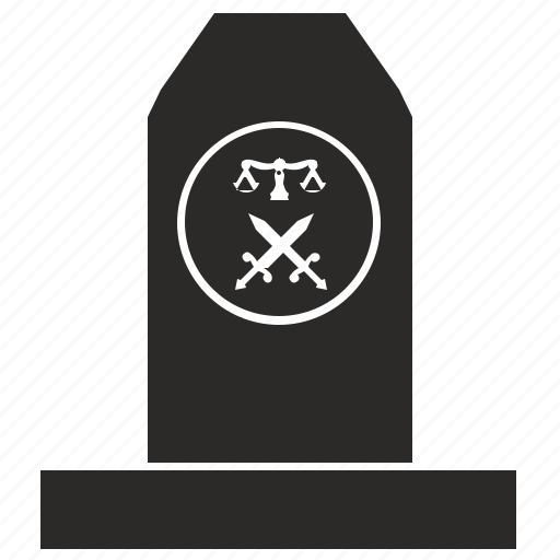 bill, grave, law, monument icon