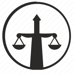 court, justice, rights, scales, sword icon