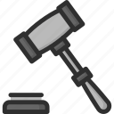 hammer, judge, judicial, justice, law icon